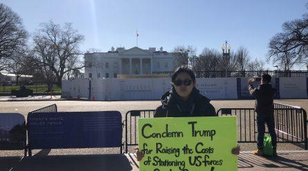 <내정간섭반대!> … 8차미국평화원정 251일째 .. 백악관앞시위 총989일째