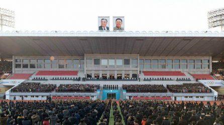 [노동신문] 청년전위들의 궐기대회 진행