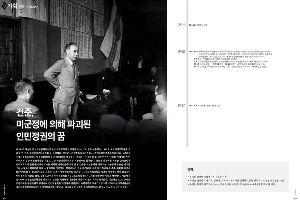 [항쟁의기관차1 – 꼬무나] 건준, 미군정에 의해 파괴된 인민정권의 꿈 