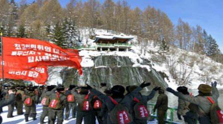 [노동신문] 최고인민회의대의원들 백두산지구혁명전적지답사행군