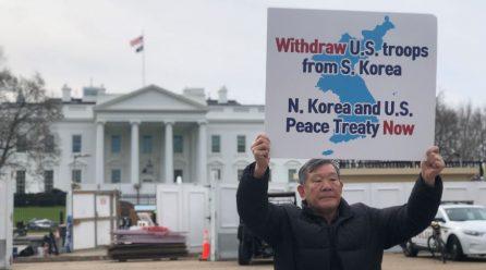 <계속되는 백악관앞평화시위> 8차미국평화원정 281일째 .. 백악관앞시위 총1019일째