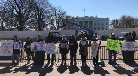 <점점 커지는 반전평화의 함성> 8차미국평화원정 283일째 .. 백악관앞시위 총1021일째