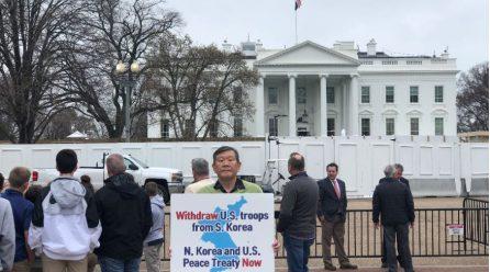 <계속되는 백악관앞시위!> 8차미국평화원정 288일째 .. 백악관앞시위 총1026일째