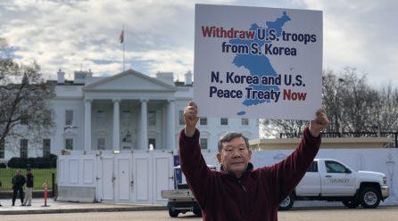 <전쟁위기고조시키는 미군즉각철거!> 8차미국평화원정 274일째 .. 백악관앞시위 총1012일째