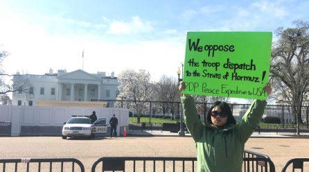 <함께 외치는 평화> 9차미국평화원정 14일째 .. 백악관앞시위 총1042일째