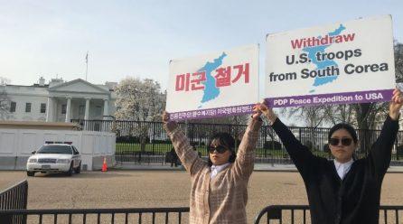 <전세계가 바라는 코리아의 평화>  9차미국평화원정 12일째 .. 백악관앞시위 총1040일째