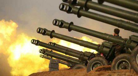 김정은위원장 서부전선대연합부대 포사격대항경기지도