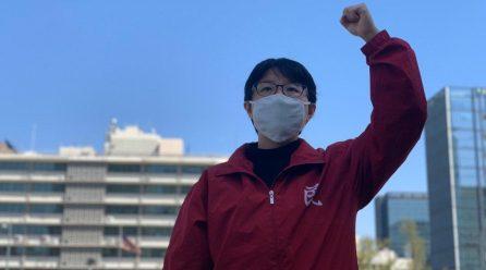 민중민주당 <미군철거! 환수복지!> 선거유세2일째 … 3·4차 정당연설회 진행