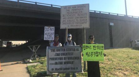 <전세계 전쟁의 화근, 미군> 9차미국평화원정 121일째 … 미국평화원정시위 총1149일째