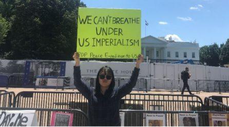 <전세계 모든 미군은 당장 철거돼야> 9차미국평화원정 105일째 … 미국평화원정시위 총1133일째