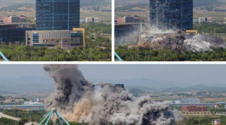 북, 개성공동연락사무소 완전파괴