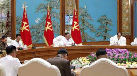 김정은위원장, 당중앙정치국비상확대회의 긴급소집