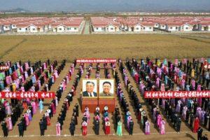 [노동신문] 황해북도 은파군 대청리에서 새집들이 진행